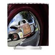 Wheel Reflections Shower Curtain