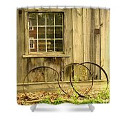 Wheel Rims Shower Curtain