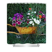 Wheelbarrow Beauty Shower Curtain