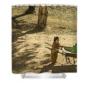 Wheelbarrow Girl  Shower Curtain