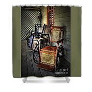 Wheelchairs Of Yesteryear By Kaye Menner Shower Curtain