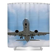 Wheels And Flaps Down Shower Curtain