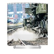 Wheels And Gears Engine 26 Shower Curtain