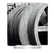 Wheels And Pulleys  Shower Curtain