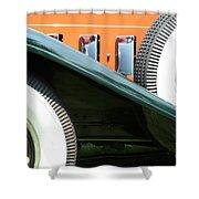 Wheels Shower Curtain