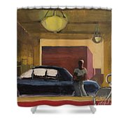 Wheels In The City Shower Curtain