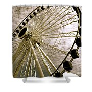 Wheels In The Wind Shower Curtain