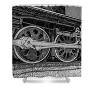 Wheels On A Locomotive Shower Curtain