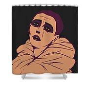 Weeping Pierrot Shower Curtain