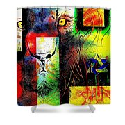 Whelp Of Judah- Revisited Shower Curtain