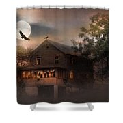 When Dead Leaves Fly Shower Curtain