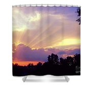 When Evening Comes Shower Curtain