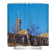 When In Paris - Look Up Shower Curtain