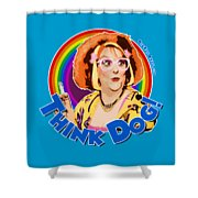 Think Dog Shower Curtain