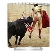 When The Bull Gores The Matador I Shower Curtain