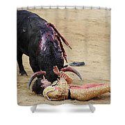 When The Bull Gores The Matador Vii Shower Curtain