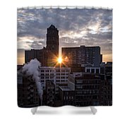 When The City Sleeps Shower Curtain