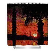 When The Day Ends Time Is Exhausted Shower Curtain