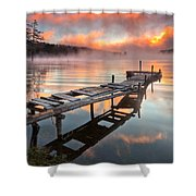 When The Fishermen Go Away Shower Curtain