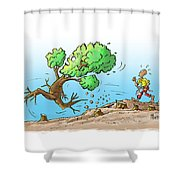 When The Going Gets Tough Shower Curtain