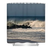When The Ocean Speaks - Jersey Shore Shower Curtain