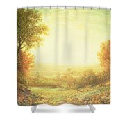 When The Sun In Splendor Fades Shower Curtain by John MacWhirter