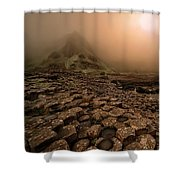 Sunset At Giant's Causeway Shower Curtain