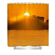 When The Sun Sets Shower Curtain