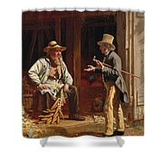 When We Were Boys Together Shower Curtain