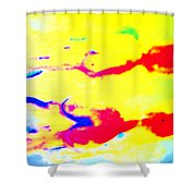 When We Were Swimming Together  Shower Curtain