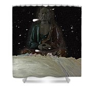 When You Meet The Buddha Shower Curtain