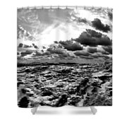 When You Need The Ocean, She Comes Rushing... Shower Curtain