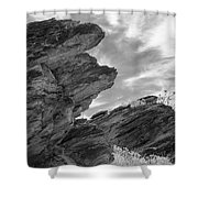 Where Andreas Meets Murray Bw 3 Shower Curtain