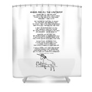 Where Are All The Unicorns Shower Curtain