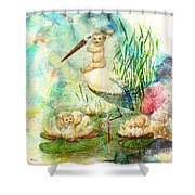 Where Babies Come From Shower Curtain