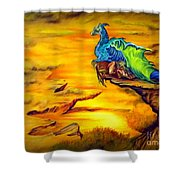 Dragons Valley Shower Curtain