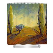 Where Evening Begins 2 Shower Curtain