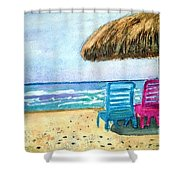 Peaceful Day At The Beach Shower Curtain