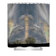 Where Spirits Dwell Shower Curtain by Wayne King