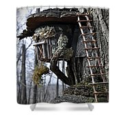 Where The Gnomes Live Shower Curtain
