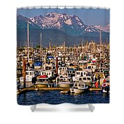 Where The Land Ends ... Shower Curtain