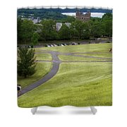 Where The Paths Cross Cornell University Ithaca New York Shower Curtain