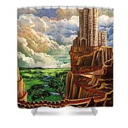 Where The Red Brick Road Leads Shower Curtain