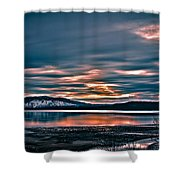 Where The River Ends Shower Curtain