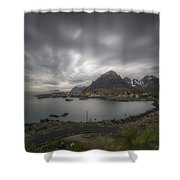 Where The Road Ends Shower Curtain