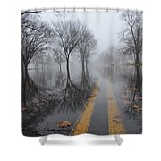 Where The Road Leads Shower Curtain