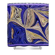 Where The Sky Meets The Sea Abstract Shower Curtain