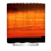 Where The Sky Meets The Sea Shower Curtain