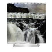 Where The Water Falls Shower Curtain