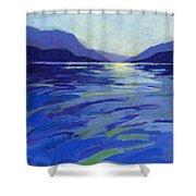Where The Whales Play 1 Shower Curtain